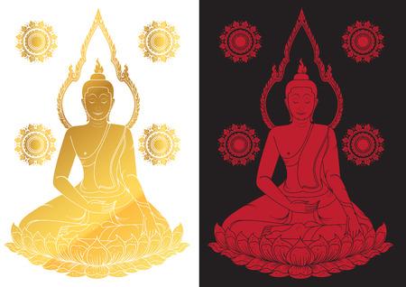 buddha statue: Sitting Buddha Vector illustration