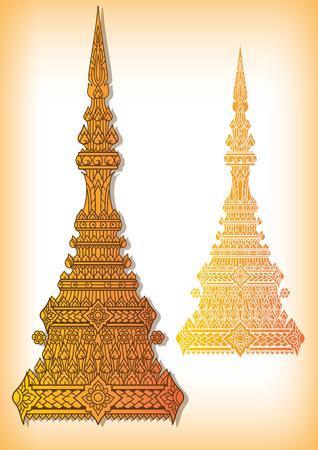 king thailand: Thai Golden crown vector Illustration