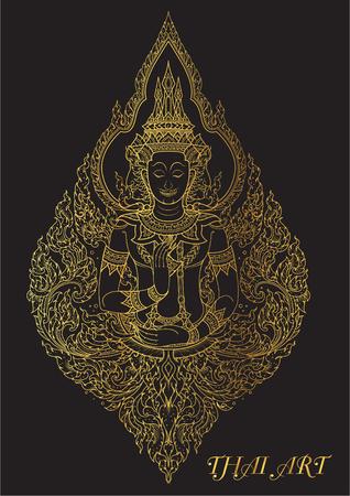 thai art outline illustrator