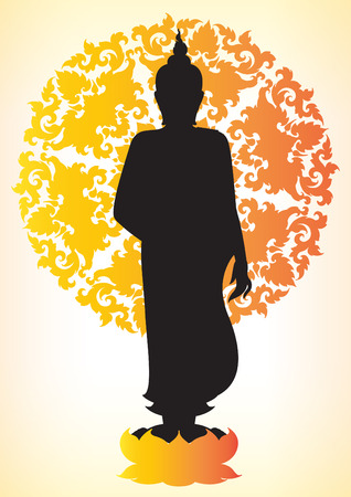 believes: Silhouette of Buddha Illustration