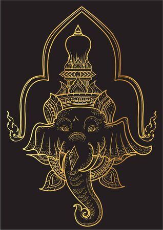 thai motifs: son Siva vector illustrator