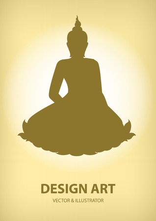 believes: Buddha silhouette layout vector illustrator