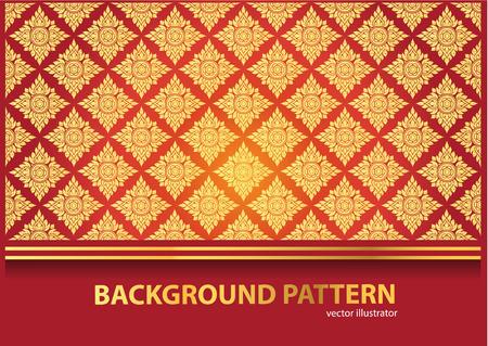 タイの美術背景タイ アート パターン ベクトル  イラスト・ベクター素材