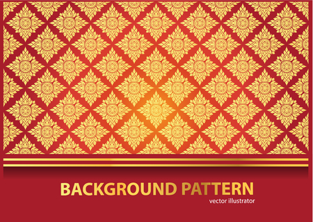 art and craft: Thai Art Background Thai art pattern vector