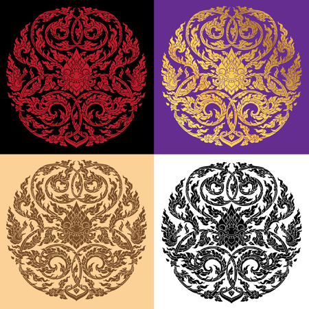 decorative element: Thai Art pattern vector