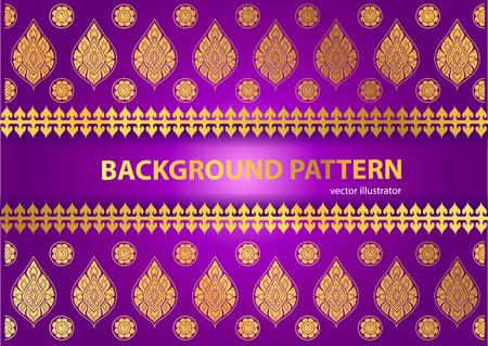 thai silk: Thai Art Background Thai art pattern vector
