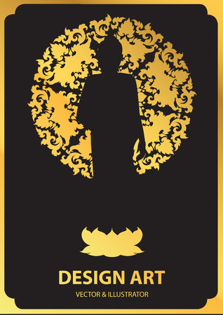 believes: Layouts Silhouette of Buddha vector