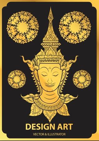 rama thai face vector Çizim