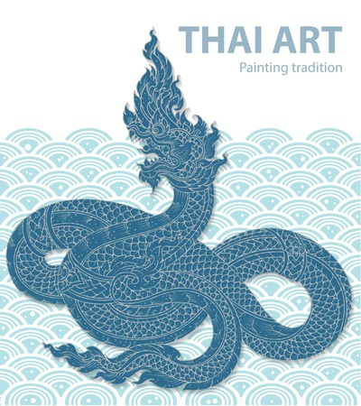 tradition: layout king snake thai tradition Illustration