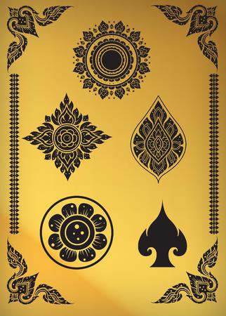 king thailand: Thai art pattern