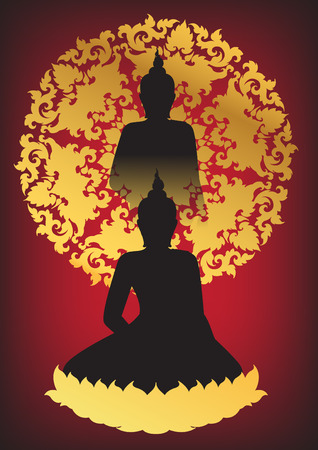 believes: Layouts Silhouette of Buddha