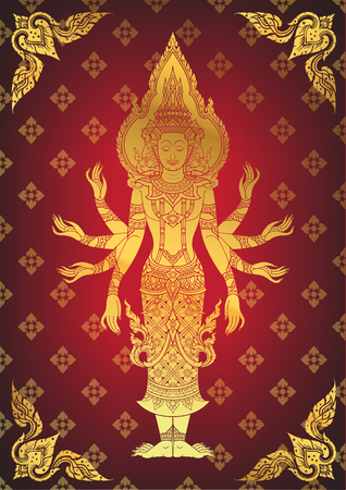 righteous: Illustration of Hindu God Brahma Illustration