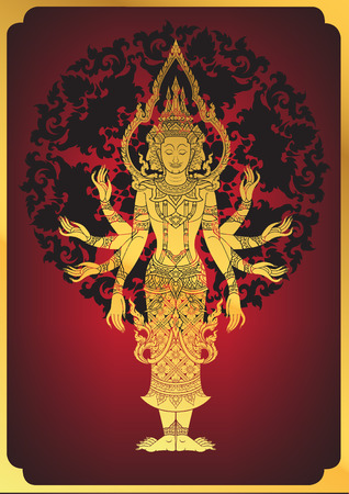 a righteous person: Illustration of Hindu God Brahma Illustration