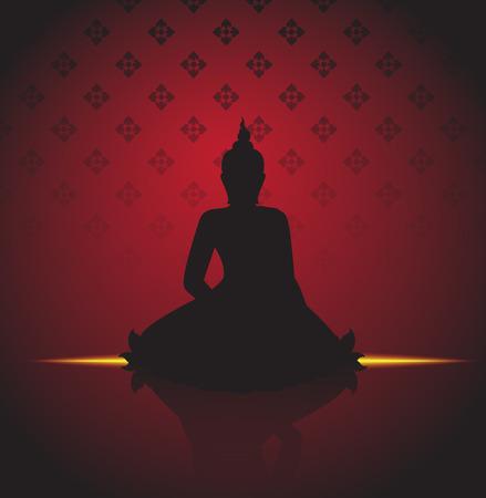 Buddha silhouette illustrator