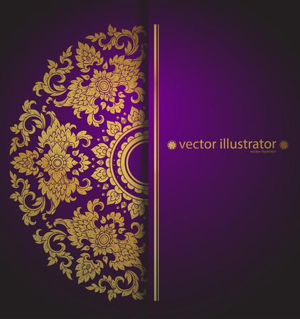 vector patrón estilo tailandés