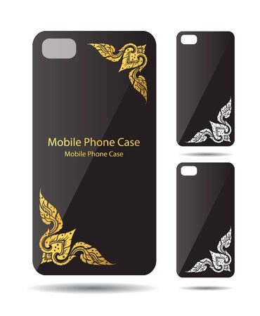 line thai: Phone line thai cover vector illustration