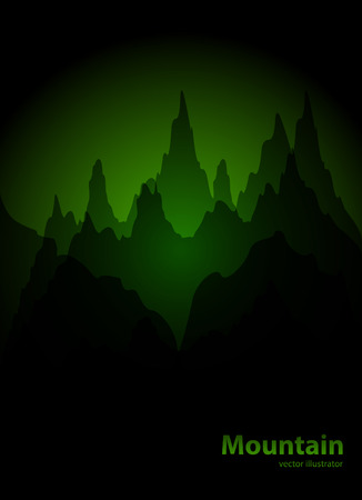 overlook: Vector Background with Mountains