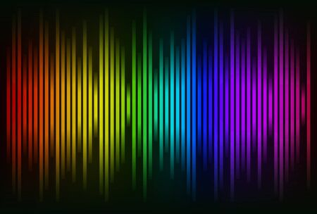 Sound waves oscillating glow colorful light