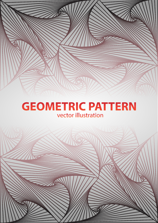 straight lines: Geometric pattern with straight lines Illustration