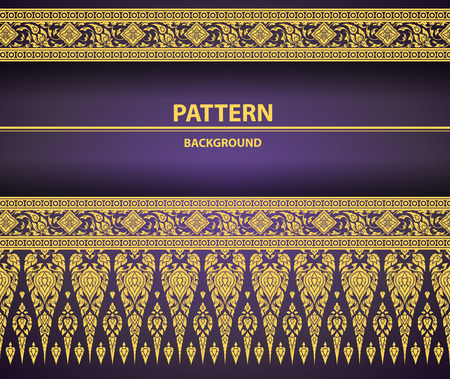 Thai Art Background pattern vector Illustration