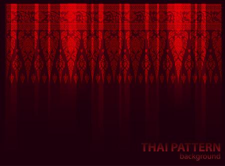 thai silk: Dark pattern background vector