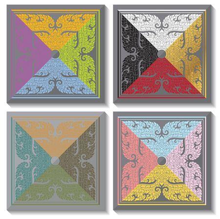 architecture abstract: Thai Art Background Thai art pattern vector