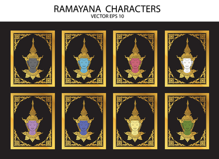 king thailand: Ramayana characters