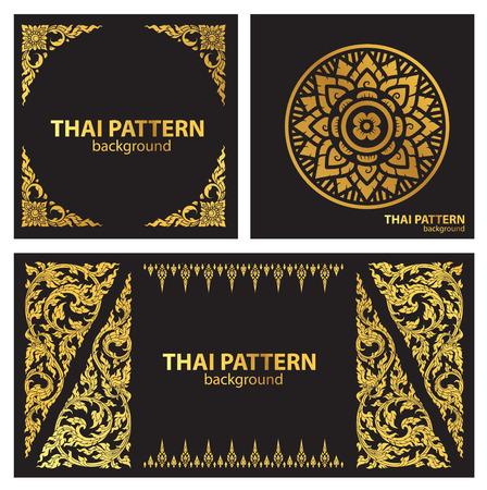 thai pattern style vector