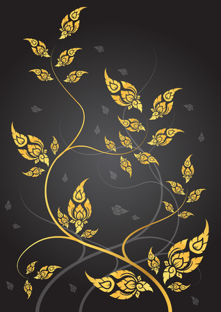 tradition: leaf of thai tradition vector
