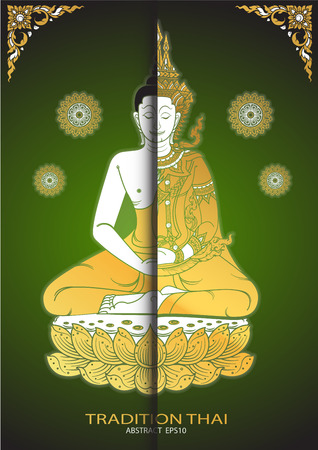 tradition: buddha thai tradition vector Illustration