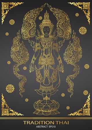tradition: thai tradition Buddha Jewelry Set Illustration