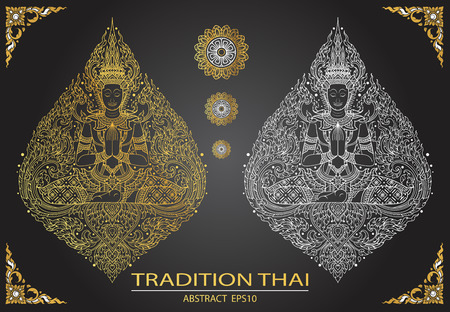 tradition: cover tradition thai Buddha Jewelry Set Illustration