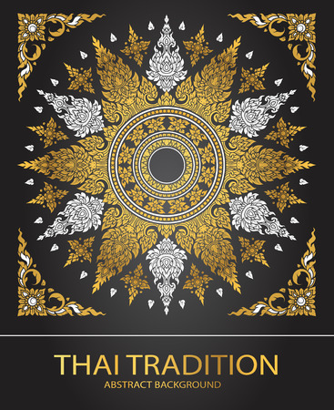 line thai tradition abstract