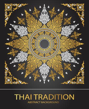 line thai: line thai tradition abstract