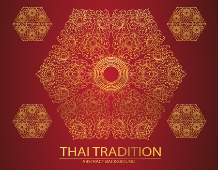 Thai style: line thai tradition abstract