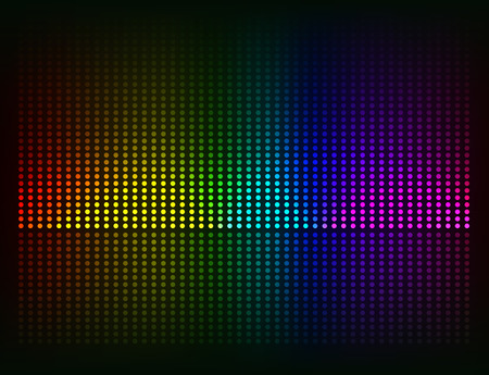 sound waves: Vector sound waves Music colorful elements