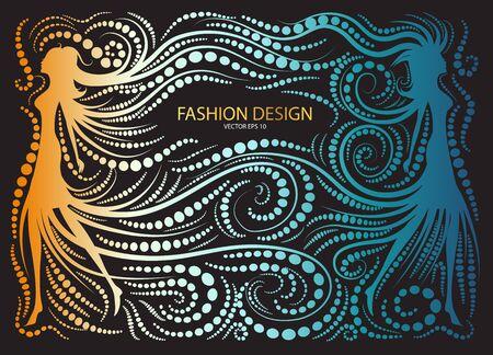 Fondo de diseño abstracto de la moda