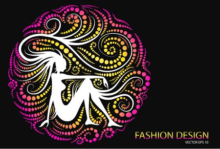 fashion design: woman abstract fashion design