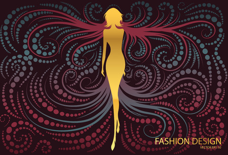 psyche: woman abstract fashion background
