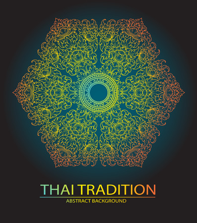 decorative element: line thai tradition abstract