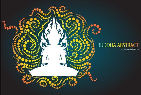 psyche: Dise�o Buda sentado abstracta tradici�n Vectores