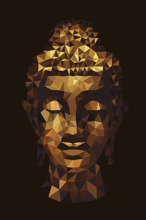 伝統の頭を抽象的な仏ポリゴン
