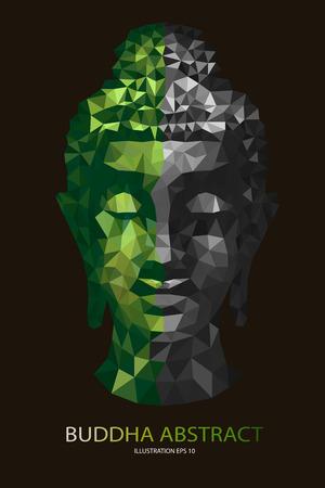 nirvana: abstract tradition head buddha polygon
