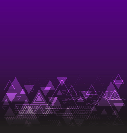 technology background: triangle abstract technology background Illustration