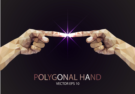 Polygonal style pointing finger light