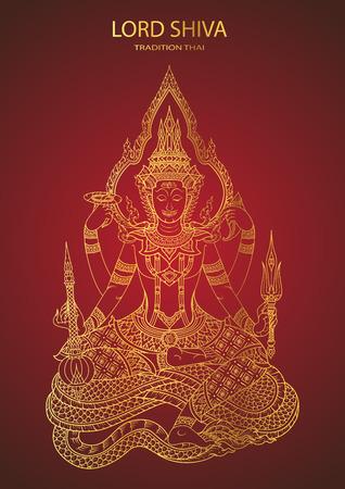 position d amour: Dieu Shiva ligne de tradition thai