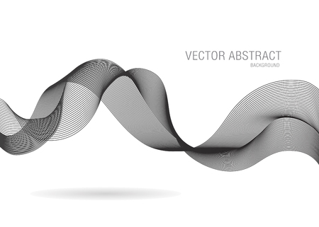 technologie: abstract business line wave vector background