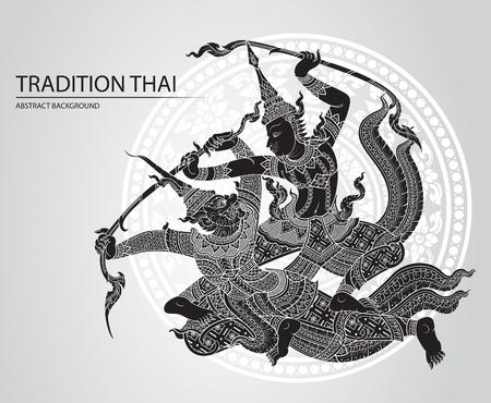 rama: Rama battle a giant greeting card design Illustration