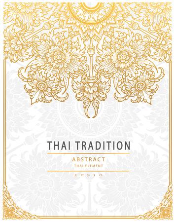 Thai-Kunst-Element Traditionelle Golddeckung