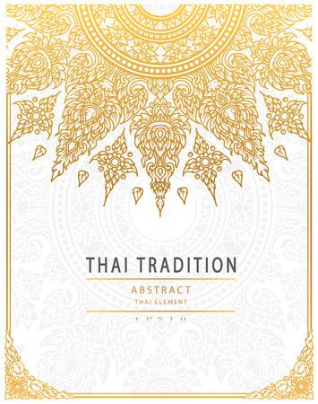 タイ芸術要素伝統的なゴールド カバー